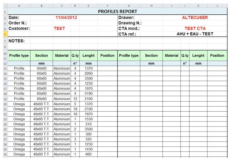 Production module (CAD drawing) - AHU designer